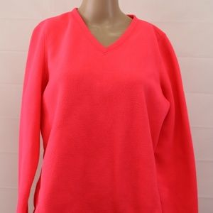 Tek gear sz L neon pink fleece sweatshirt